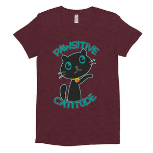 Pawsitive Catitiude Women's Crew Neck T-shirt