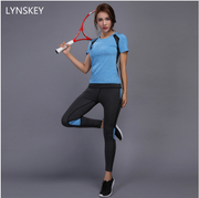 Yoga Set Gym Fitness Clothes Tennis Shirt+Pants Running Tight Jogging Workout Yoga Leggings Sport Suit plus size