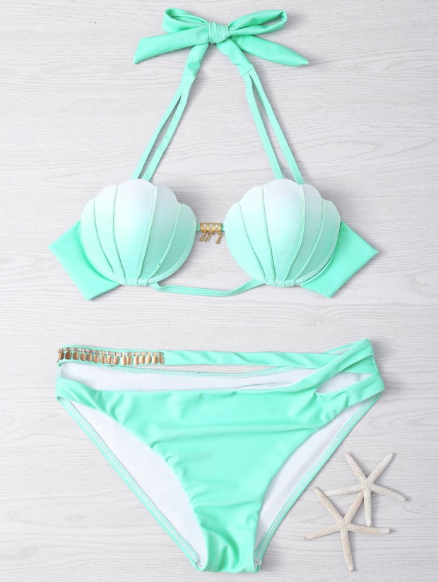 Bikini Swimsuit With Gradual Change Shell