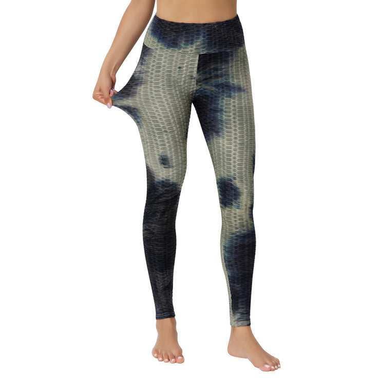 Yoga Jacquard Tie-Dye Yoga Clothes Bubble Yoga Pants