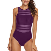 Sexy mesh swimsuit turtleneck swimsuit