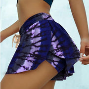 Printed yoga exercise swimsuit shorts