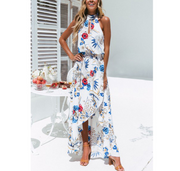 Digital printed beach women's dress