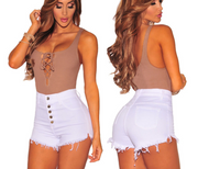 New high waist stretch shorts