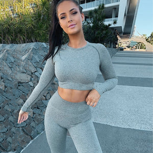 Slim Fit Long Sleeve Yoga Set