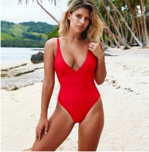 New Triangle One-piece Swimsuit Sexy One-piece Swimsuit