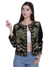 KEIR Black Multi Sequins Hand Embellished Jacket