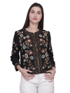 RAJANI Black multi Flower Hand Embellished Jacket