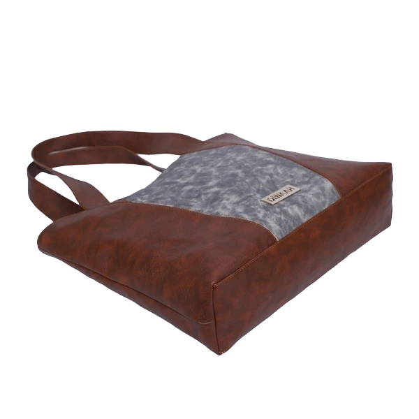 ENIGMA Brown Textured Regular Shoulder Bag