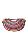 FORREST Multi color Jute Handbag with Wooden Handle