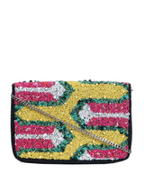 ALLMY Embroidered Multi Beaded Foldover Bag