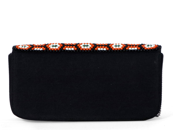 AMBLE Rust Multi Beaded Foldover Clutch