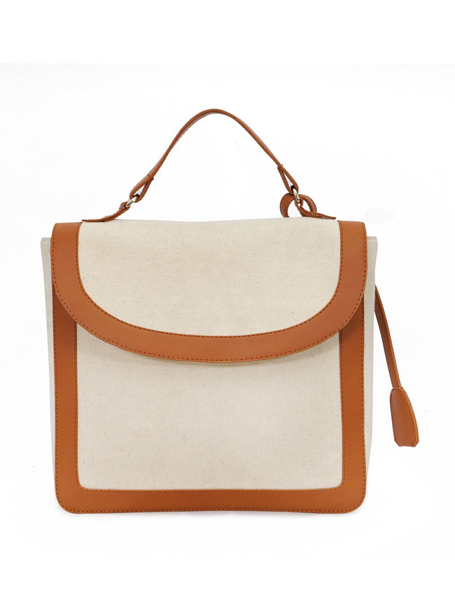 LUIS White Embroidered Sling Bag