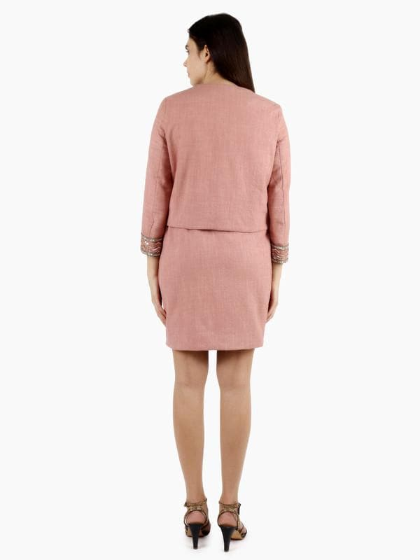 Luco Pink Embellished Dress