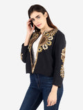 NICOLO Black Brown & Gold Hand Embroidered Jacket