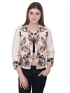 GIOIA Ivory Flora Embroidered Jacket