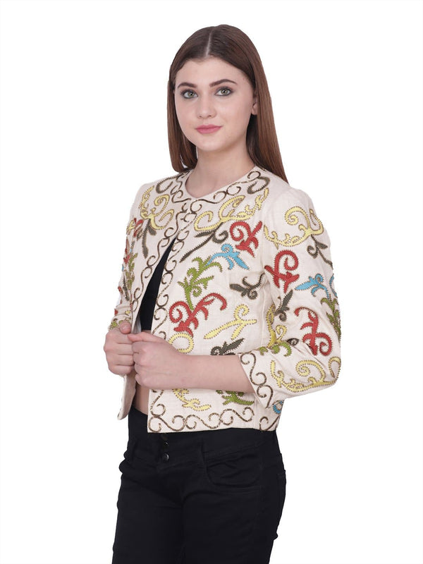ROCH Multicolored Flora Embroidered Jacket