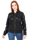 DEMI Black Hand Embellished Jacket