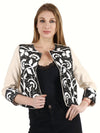 BEKKY Black & White Floral Hand Embellished Jacket