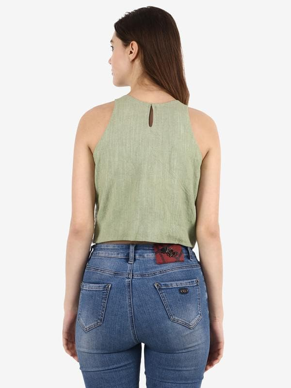Resse Green Embellished Top