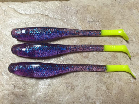 Down South Lures - SUPER MODEL PLUM CHARTREUSE