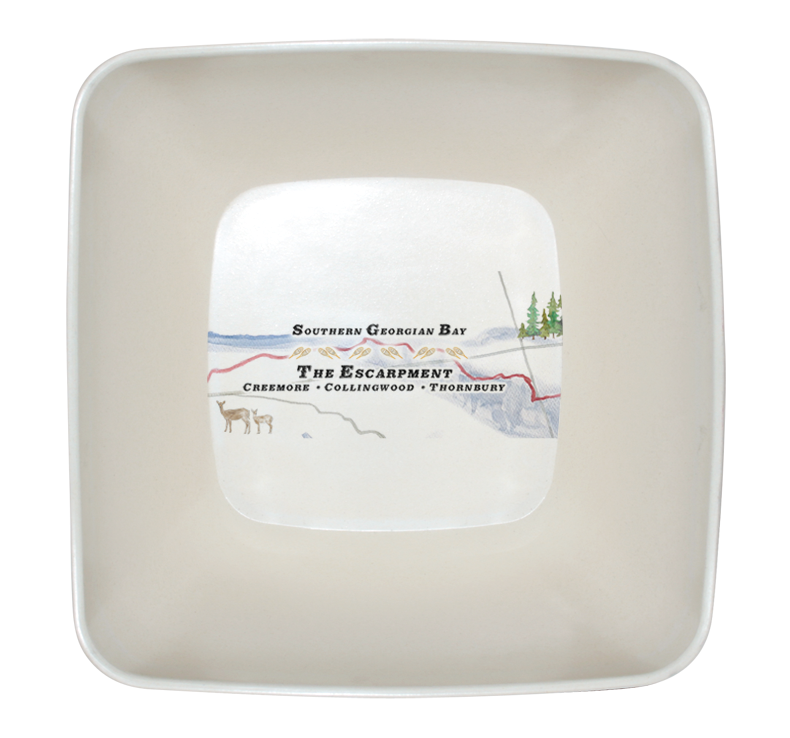 ** NEW ** Chalet Map Serving Bowl (Pre-order only)