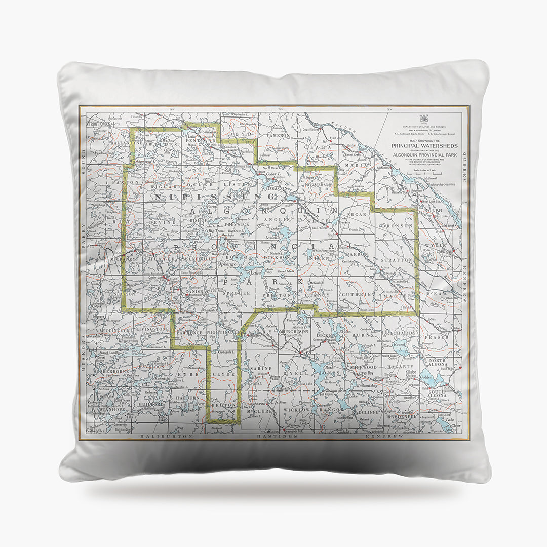 Algonquin Park Map Dog Bed