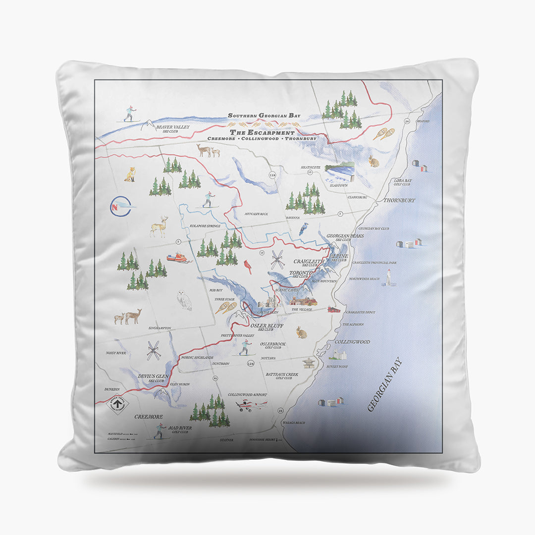 Chalet Map Dog Bed