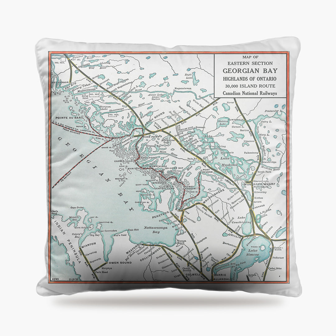 Georgian Bay Map Dog Bed
