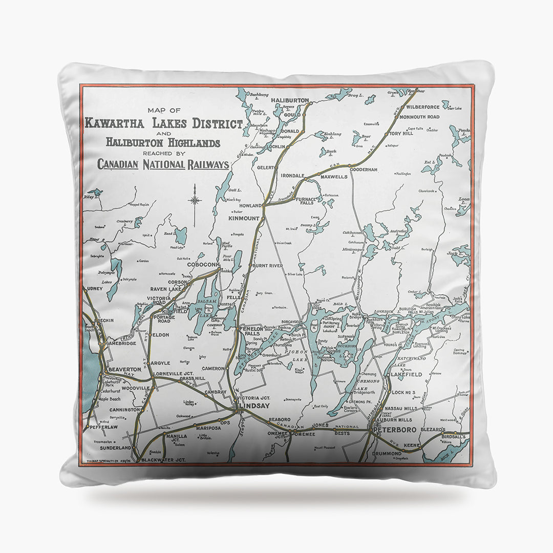 Kawartha Lakes Map Dog Bed