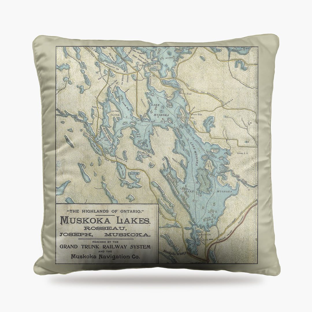 Lake Muskoka Map Dog Bed