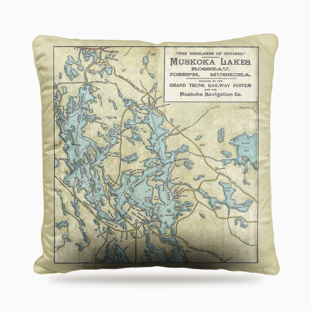 Lake Rosseau & Lake Joseph Map Dog Bed