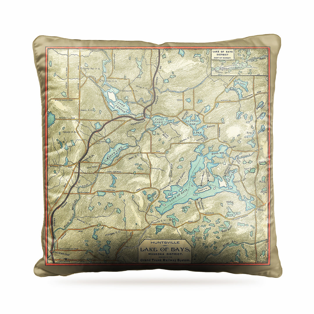 Lake of Bays Map Dog Bed