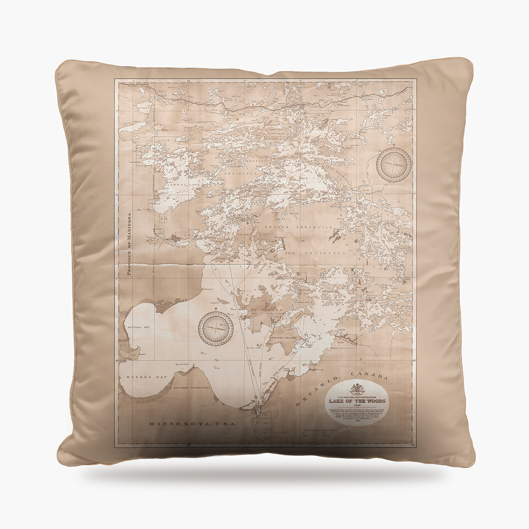 Lake of the Woods Map Dog Bed