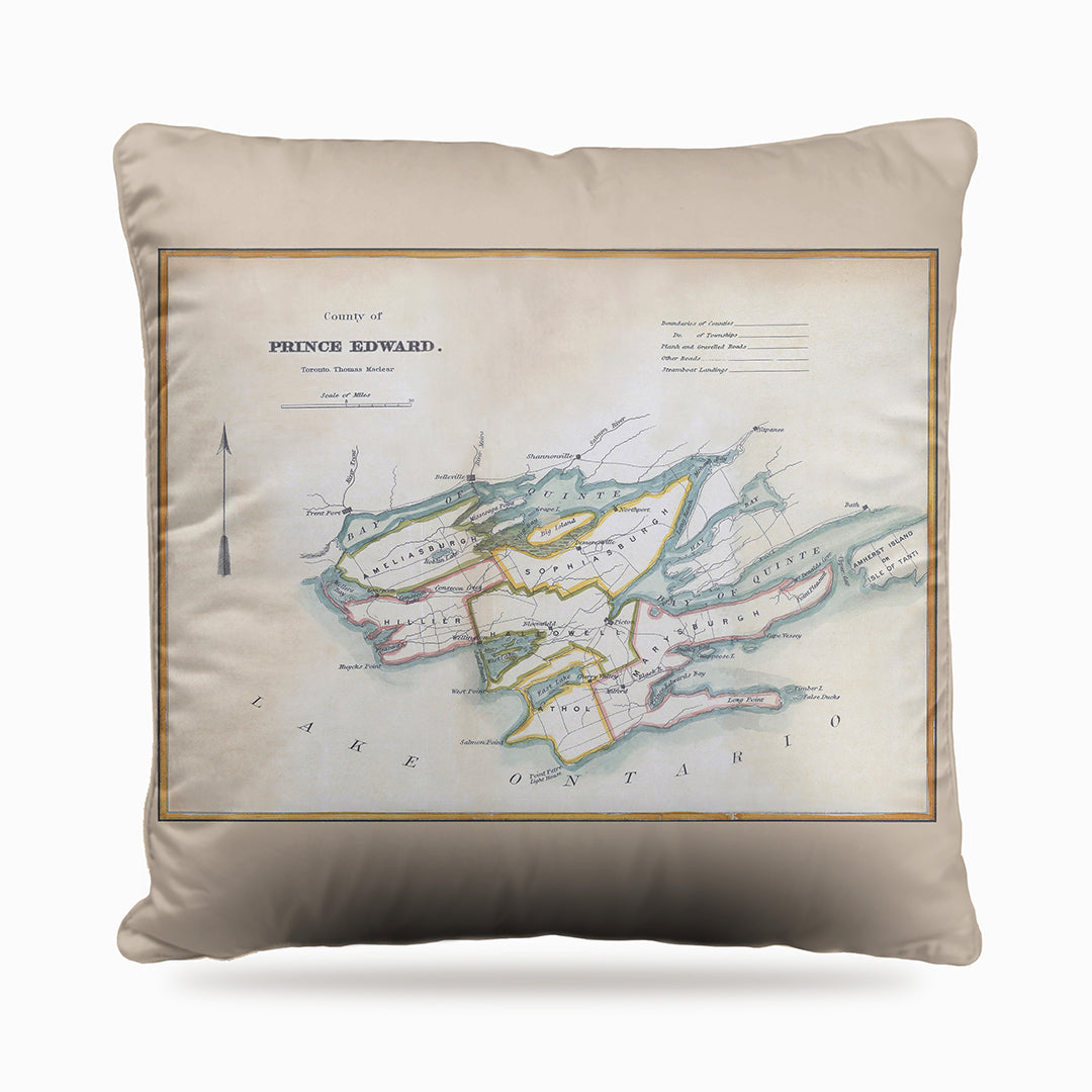 Prince Edward County Map Dog Bed