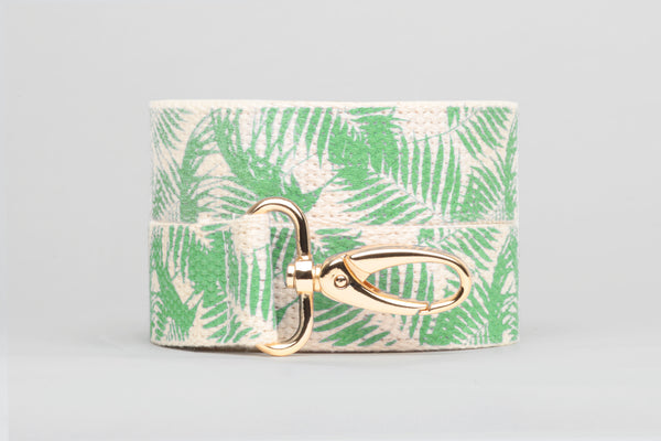 Green Palm Printed Purse Strap