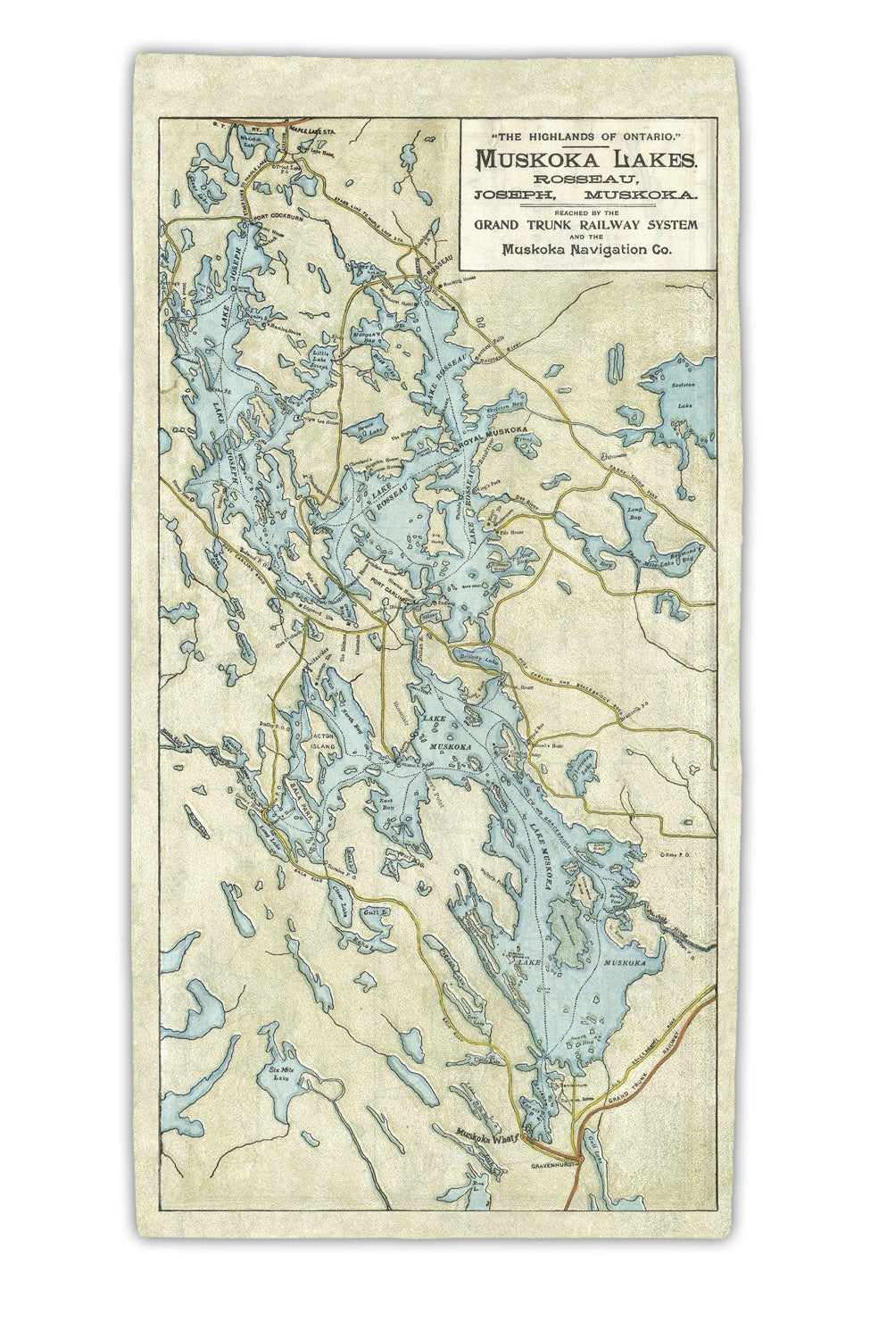 **NEW** Muskoka Lakes Map Towel (Pre-order only)