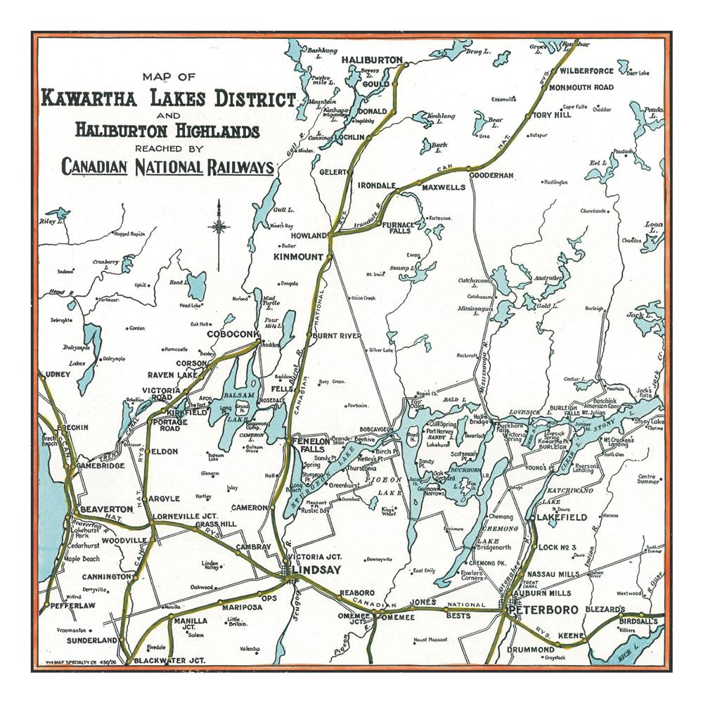 Kawartha Lakes Map Notecards