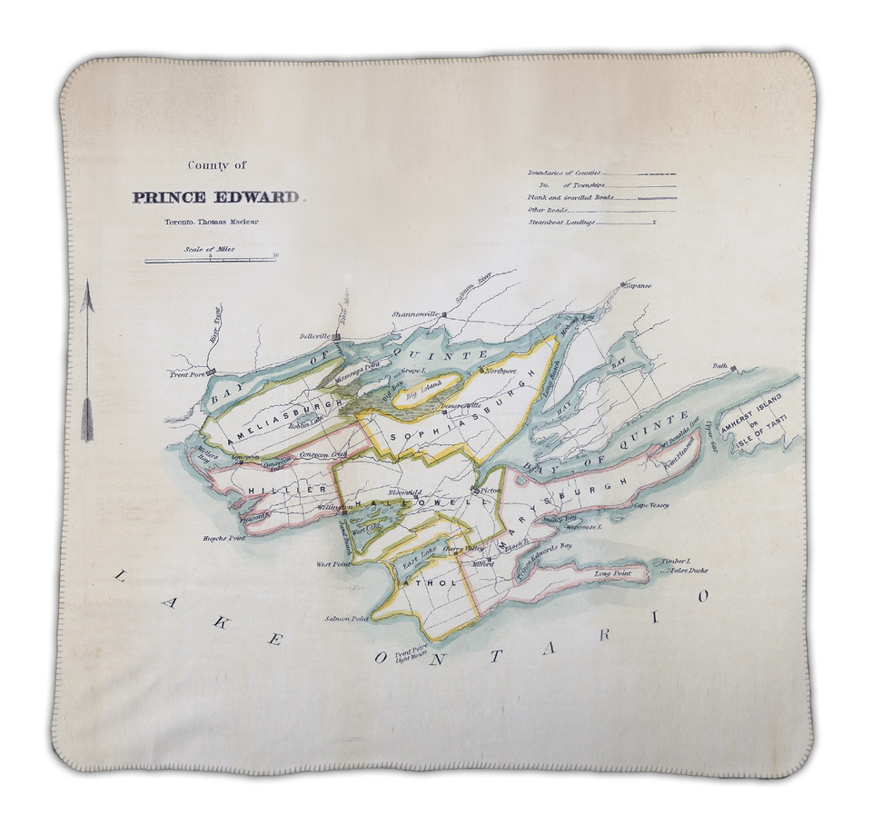**New** Prince Edward County Map Blanket