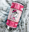 A Girl Who Kicked Breast Cancers Butt Personalized Tumbler PRE735 -2