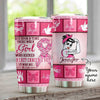 A Girl Who Kicked Breast Cancers Butt Personalized Tumbler PRE735 -1