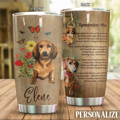 Dachshund Remember Me Personalized Tumbler PRE976 -1