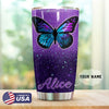 Butterfly Purple Personalized Tumbler PRE903 -1