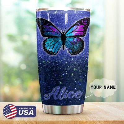 Butterfly Purple Personalized Tumbler PRE903 -2
