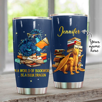 Be A Book Dragon Personalized Tumbler PRE805 -1