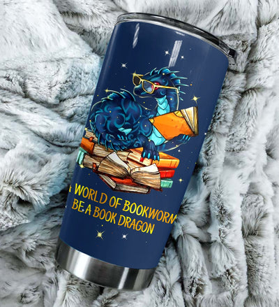 Be A Book Dragon Personalized Tumbler PRE805 -2