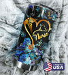 Blue Flower Nurse Personalized Tumbler PRE872 -2