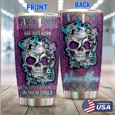 Born With The Darkness Personalized Tumbler PRE888 -1