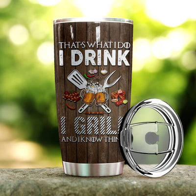 Bbq Personalized I Drink I Grill Tumbler PRE804 -2