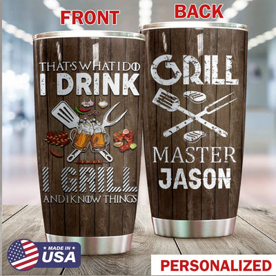 Bbq Personalized I Drink I Grill Tumbler PRE804 -1